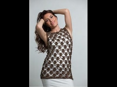 Blusa Elba tejido a ganchillo fácil y rápido - tejiendo con Laura Cepeda