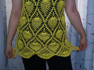Blusa tejida sin mangas parte 2