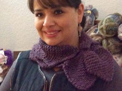 CUELLO IDA - Dos agujas fácil y rápido - Tejiendo con LAURA CEPEDA