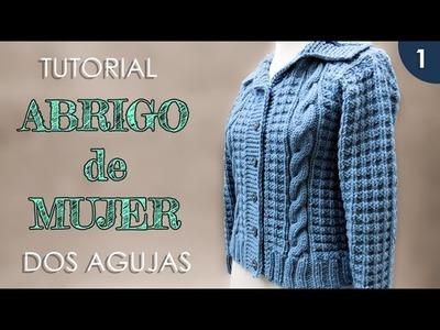 DIY abrigo, saco de mujer a dos agujas (1 de 3)