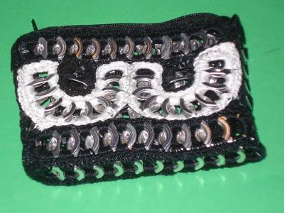 Monedero Black & White PARTE 2 con anillas de lata