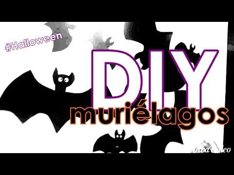 Decoración de Halloween - DIY murciélagos #HolaYoSoyRafa