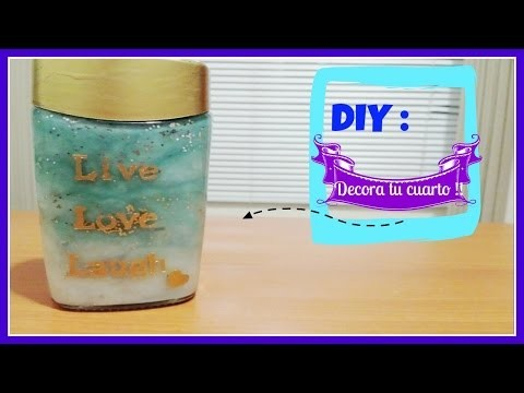 DIY: Decora tu cuarto !! ||  Frasco degradado. ombré :) FÁCIL !