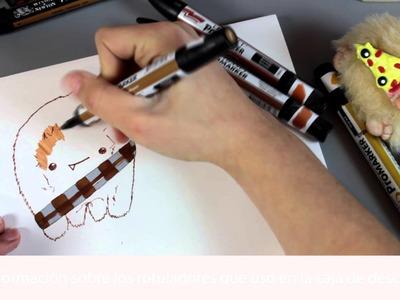Cómo dibujar a Chewbacca kawaii