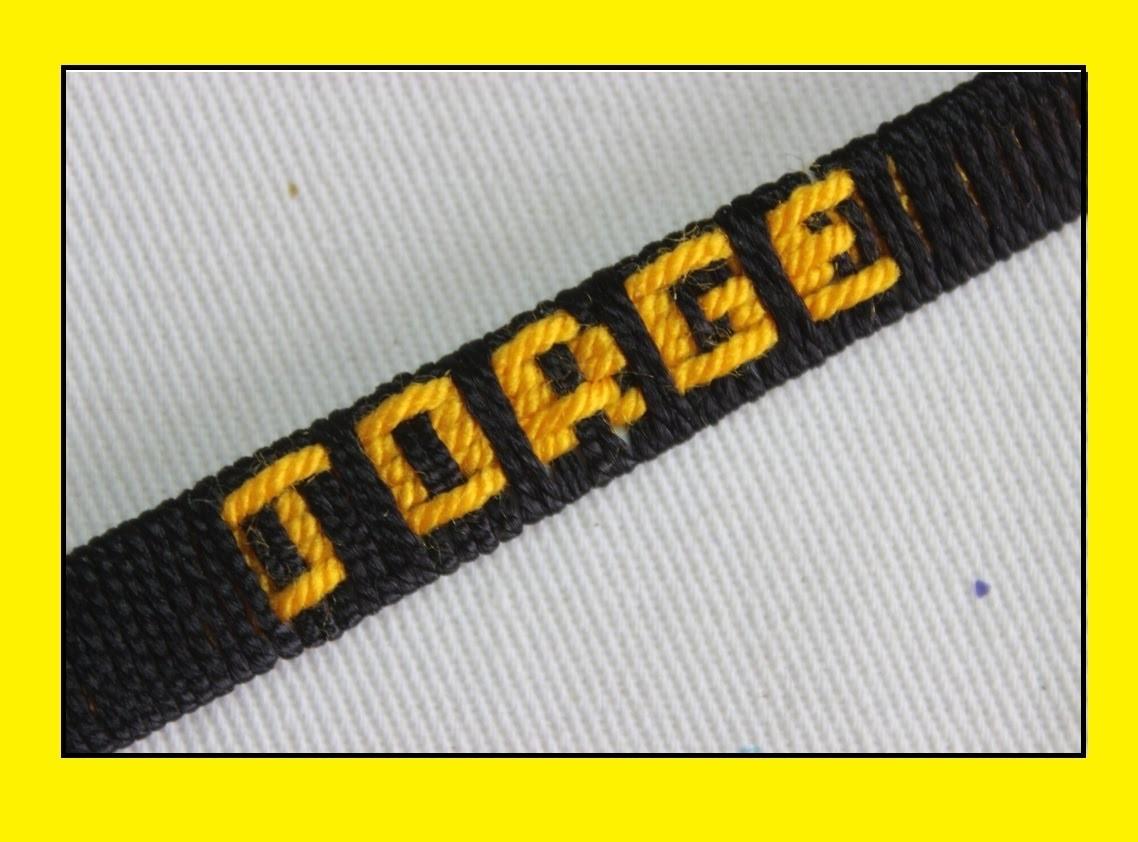 dd140f8f2931 Como hacer pulseras en hilo con el nombre personalizadas  fácil . pulseras .JORGE