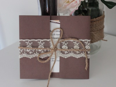 Como hacer tus invitaciones de boda. fáciles, bonitas y económicas!