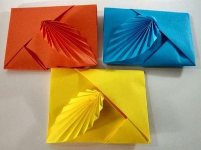 Como hacer un sobre de papel sin pegamento ni tijeras || Sobre de origami