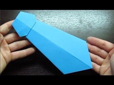 Como hacer una CORBATA DE PAPEL Super Cool | Origamis de papel paso a paso (Muy fácil)