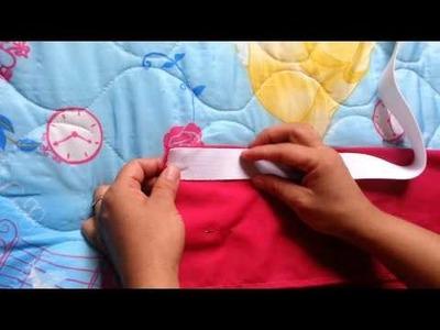 Como hacer una falda para niña super facil. .