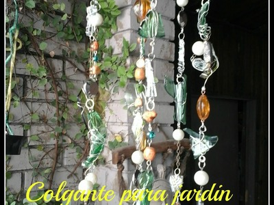 DIY Colgante para el jardin. Los hobbies de yola. Glass Wind Chime (hanging )