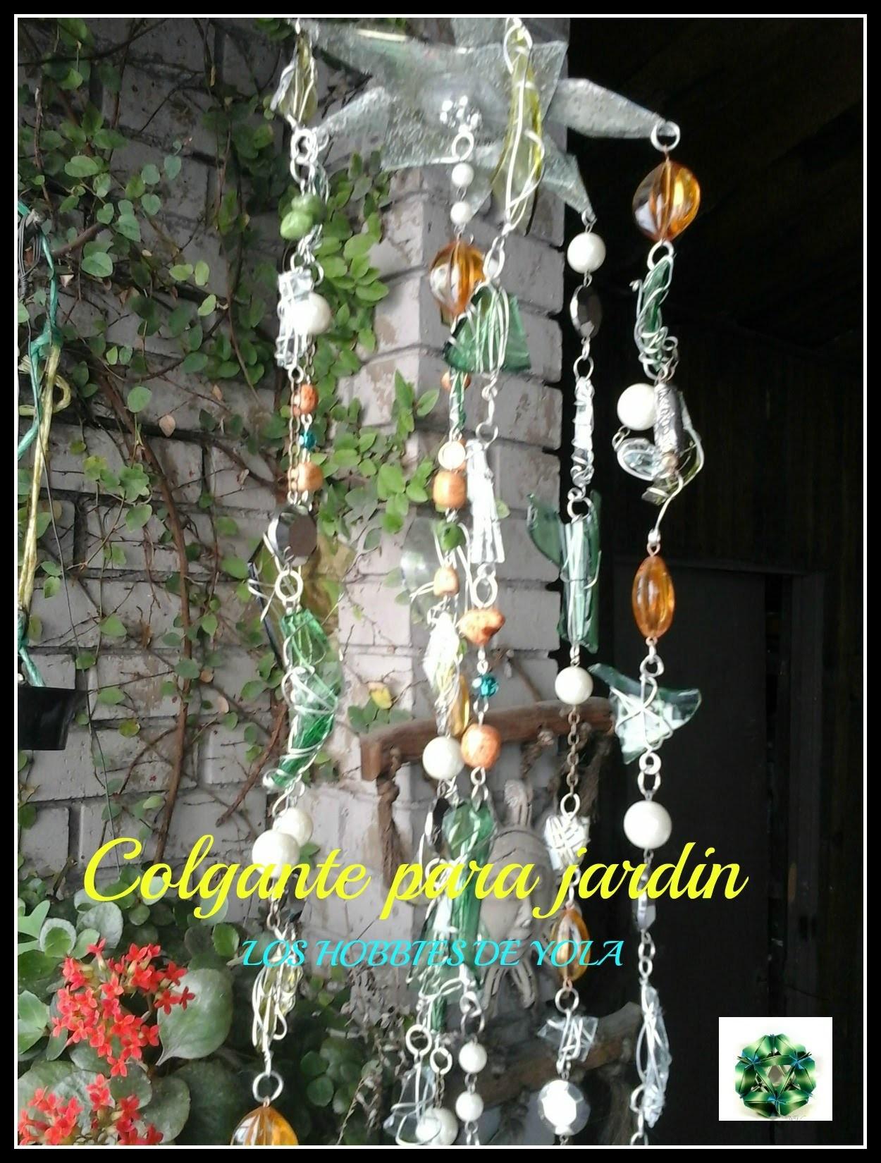 DIY Colgante para el jardin. Los hobbies de yola. Glass Wind Chime (hanging )