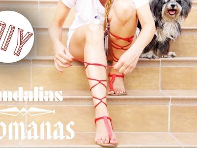 DIY Sandalias romanas + Super tip. María Esteve