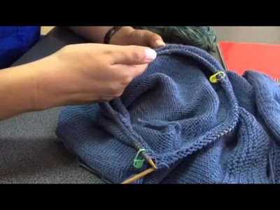 Explicación manga tejida con vueltas cortas
