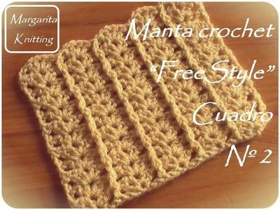 Manta a crochet FreeStyle: cuadro 2 (zurdo)