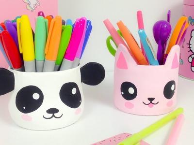Manualidades KAWAII,organizador (ideas para decorar)panda y gato Kawaii