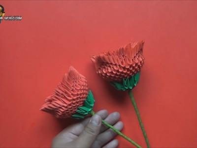 Origami 3D Rosa