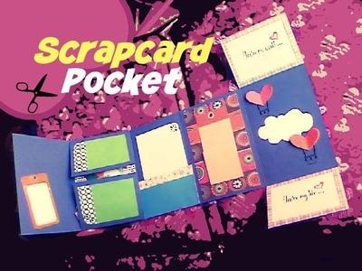 Scrapcard Pocked - Scrapbook - Killer Details - Tutorial tarjetas creativas para mi novio