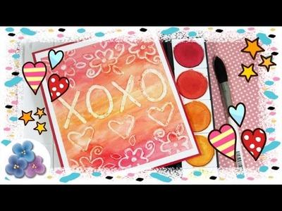 Tarjetas de Amor Fáciles de Hacer con Embossing Casero Tarjetas de San Valentin Pintura Facil