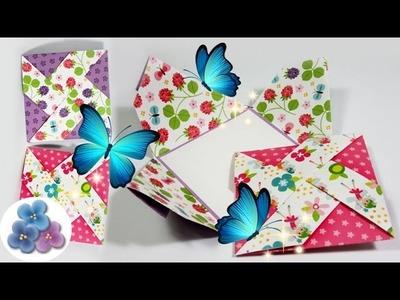 Tarjetas de Cumpleaños Creativas Molinillo de Papel [Manualidades:Tarjetas de Origami] Pintura Facil