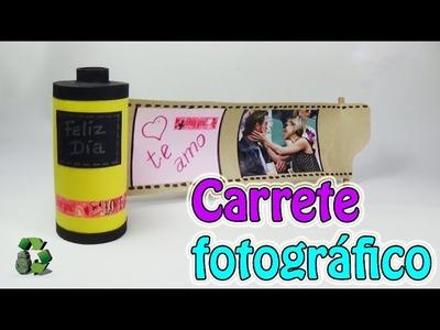 182. Manualidades para regalar: Carrete fotográfico (Reciclaje) Ecobrisa.