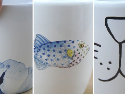 3 formas fáciles de personalizar tazas