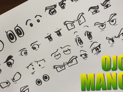 COMO DIBUJAR OJOS ANIME - COMO DIBUJAR OJOS MANGA - How to draw manga eyes