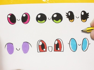 COMO DIBUJAR OJOS KAWAII PASO A PASO - dibujos kawaii faciles - How to draw eye
