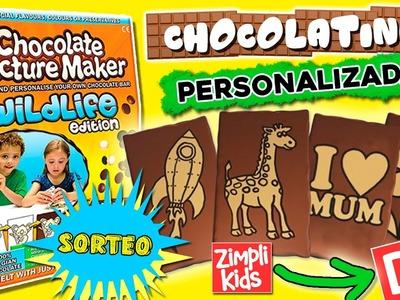 Cómo hacer CHOCOLATES personalizados y SORTEO  * RÉPLICA CASERA de Chocolate Picture Maker