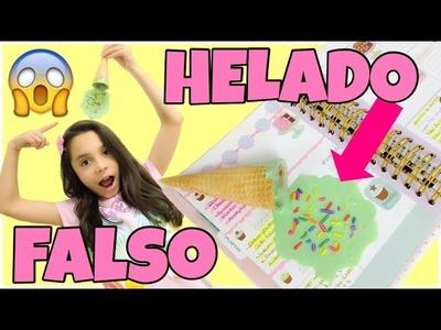 COMO HACER HELADO(NIEVE FALSA)*DIY Manualidades fáciles