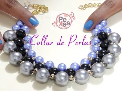 Como hacer un Collar Elegante con Perlas : Pekas Creaciones