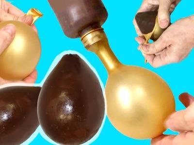 Cómo hacer un huevo de Pascua de chocolate con un globo