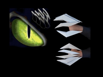 Como hacer unas garras de papel (origami)