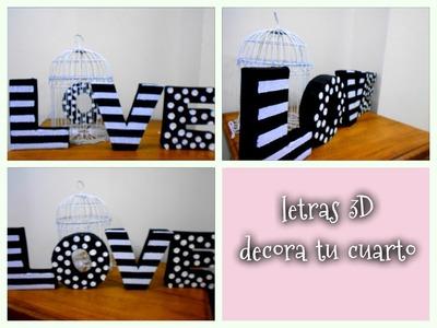 Decora tu cuarto con letras 3D de cartón Reciclando