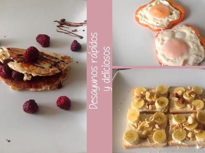Desayunos rápidos para la escuela!!!!!