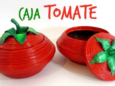 #DIY: Cómo hacer una caja tomate con papel. Tomato box.
