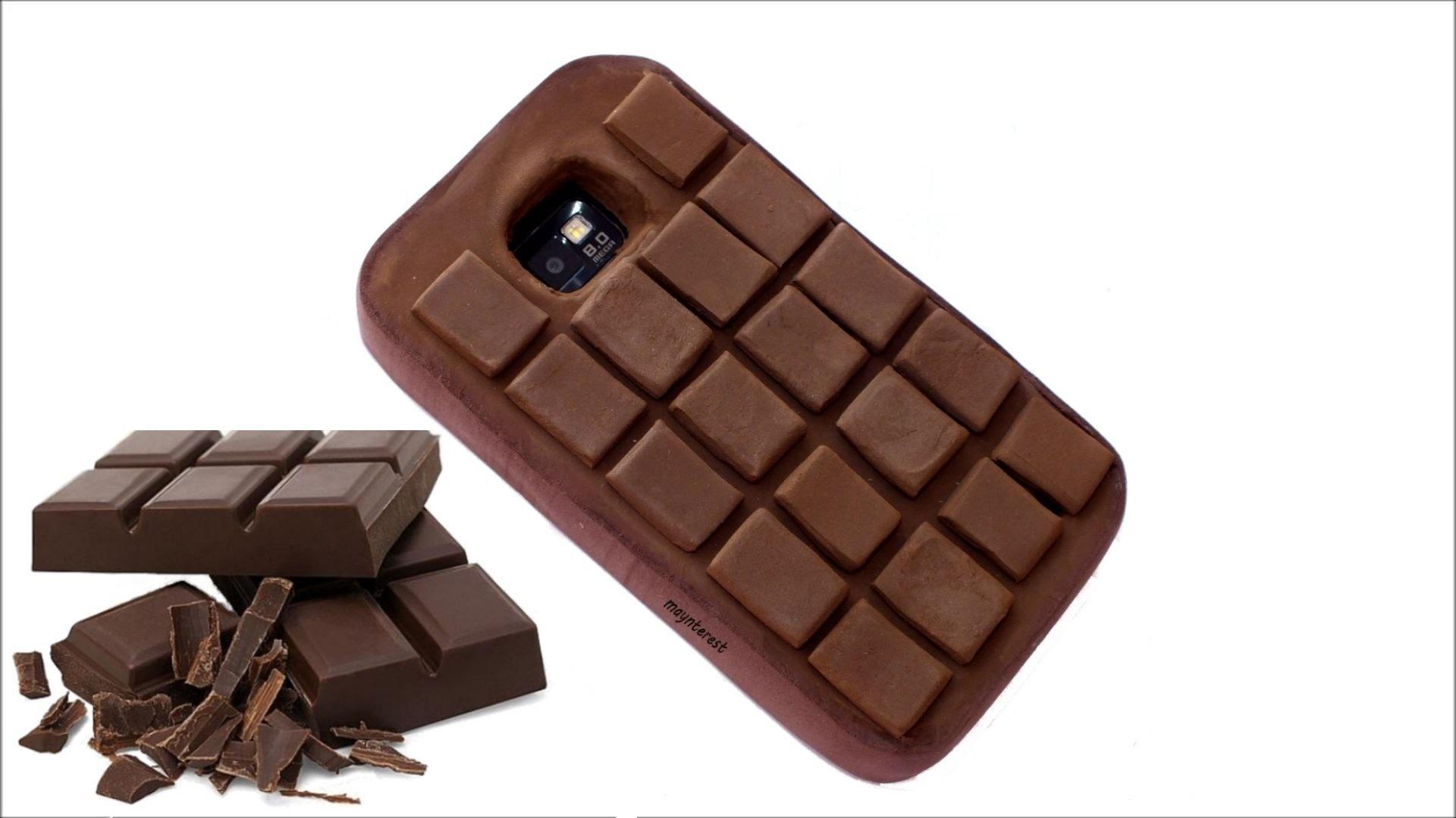 DIY Funda  para el móvil con forma de tableta de chocolate
