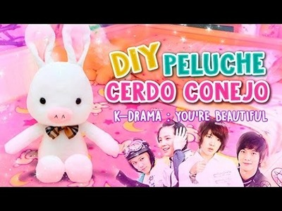 DIY KDRAMA ♡ PELUCHE CERDO CONEJO DE YOU'RE BEAUTIFUL ♡ 미남이시네요  l Fabbi Lee