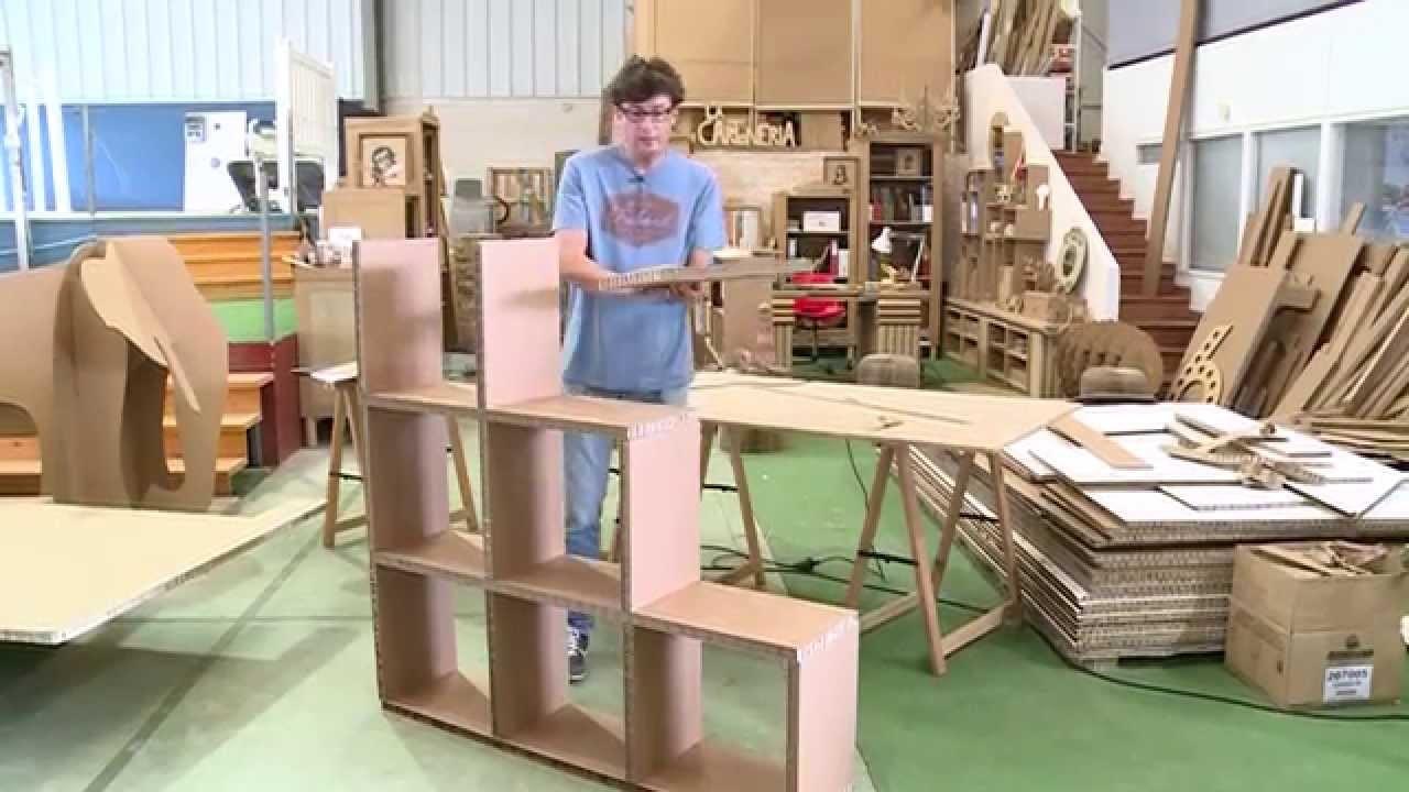 Elaboración de una estantería de cartón