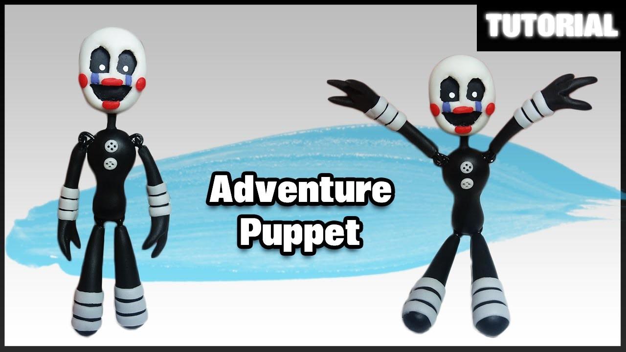 FNAF WORLD ✰ Adventure Puppet Posable Polymer Clay Tutorial ✰ Porcelana Fría