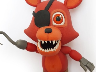 "FOXY FNAF WORLD ""TUTORIAL""  ✔PORCELANA FRIA ✔POLYMER CLAY ✔PLASTILINA"