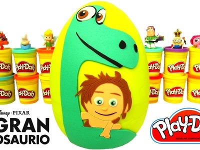 Huevo Sorpresa Gigante de Un Gran Dinosaurio en Español Plastilina Play Doh