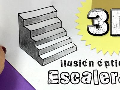 ILUSIONES ÓPTICAS * Escalera en tres dimensiones 3D