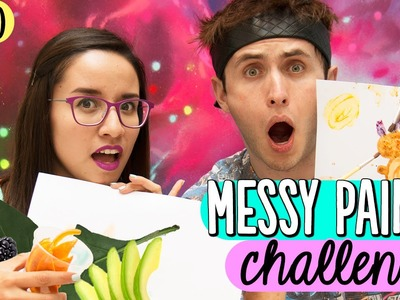 ¡RETO PINTANDO SIN PINTURA! Messy Paint Challenge ✎ Alex Brown vs Craftingeek