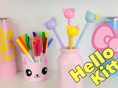 Manualidades KAWAII,como decorar lápices de HELLO KITTY