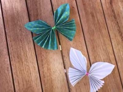 Mariposa origami paso a paso