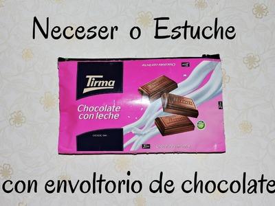 NECESER O ESTUCHE CON ENVOLTORIO DE CHOCOLATE . FÁCIL, SIN COSER