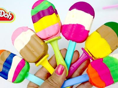 Paletas de Plastilina | Play Doh Rainbow Popsicles| Play Doh en Español