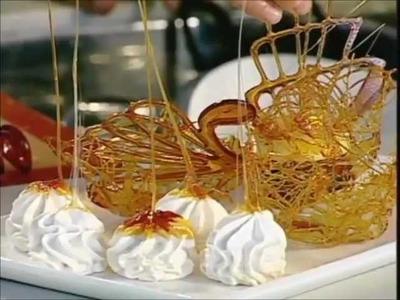 Receta de caramelos postres dulces LAGRIMAS DE CHOCOLATE Y CANASTICAS DE CARAMELO