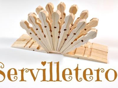 TUTORIAL: Cómo hacer un Servilletero con pinzas de la ropa | Reciclaje