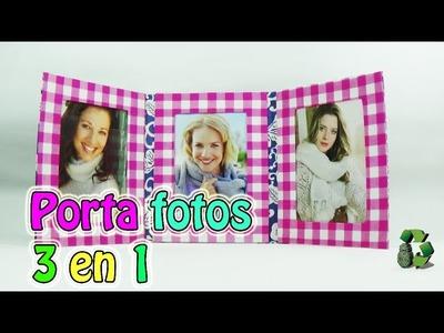 185. Manualidades: Como hacer un Porta fotos 3 en 1 [Cartonaje] (Reciclaje) Ecobrisa